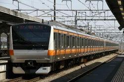 小金井市を走る中央本線(JR東日本)