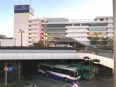 船橋駅の北口には、ペデストリアンデッキ(2階通路)がある