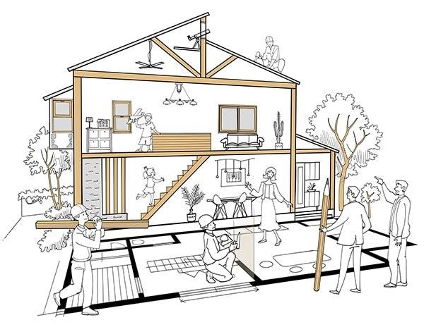 新設される住宅は年々数が減っている。出典:PIXTA