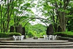 中山駅から少し離れた場所にある、神奈川県立四季の森公園