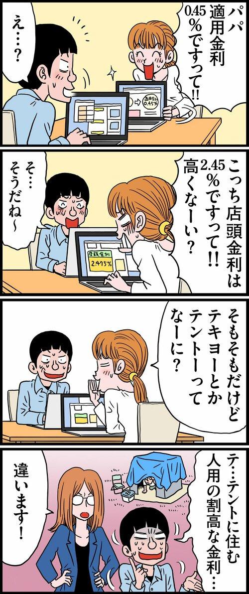 マンガ:店頭金利???