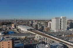 東松戸駅周辺と都心方面の眺め(出典:PIXTA)