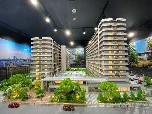 「ガーデンクロス東京王子」の完成予想模型