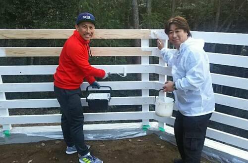 元サッカー日本代表の前園真聖さんとは、20年来の友人。一緒にペイントを行なう事も(写真は2018年に撮影)