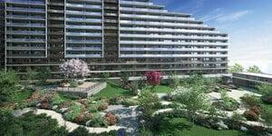 四季折々の植物が楽しめる「センターガーデン」も魅力のひとつである「グランアリーナレジデンス」
