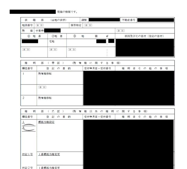 登記簿の権利部の甲区欄を見れば現在の所有者がわかる