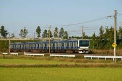 松戸市を走る常磐線