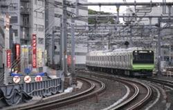 台東区を走るJR山手線