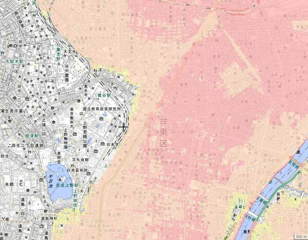 台東区 水害ハザードマップ