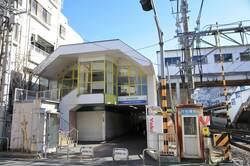 西武新宿線 新井薬師前駅周辺の様子