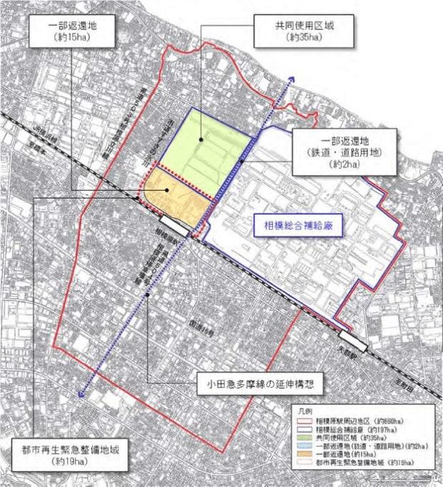 相模原駅周辺地区整備計画(相模原市HPより)