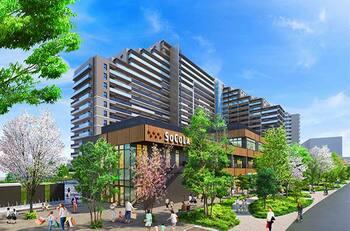 商業施設と一体開発の「プラウドシティ日吉」外観(提供:野村不動産)